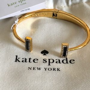 Kate Spade Gold Tone Hinged Cuff Bracelet